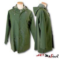 Kombinezony i spodnie robocze, Płaszcz przeciwdeszczowy PPD PVC art master zielony L