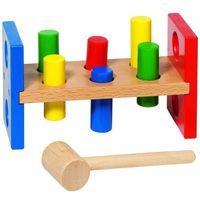 Pozostałe zabawki, Drewniana przybijanka z klockami