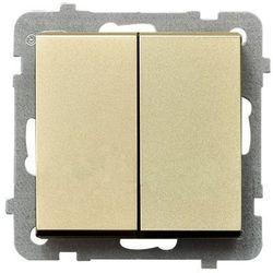 Łącznik świecznikowy Ospel Sonata ŁP-2R/M/39 16AX IP20 szampański złoty