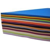Papiery i folie do drukarek, Papier kolorowy MIX 20 kolorów w ryzie A4 500 ark.