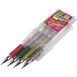 Długopisy żelowe 4 kolory z brokatem