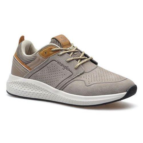 Półbuty męskie, Sneakersy Wrangler WM01070A Beżowe