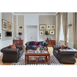 Sofa 3-osobowa CHESTER LUX brązowy