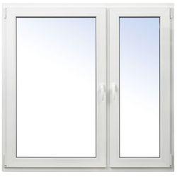 Okno PCV rozwierne + rozwierno-uchylne 1465 x 1435 mm prawe białe