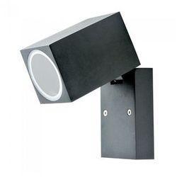 LED LAMPA ŚCIENNA GU10, CZARNA, IP44 + Bezpłatna natychmiastowa gwarancja wymiany!