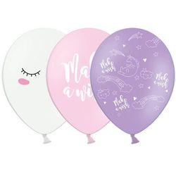 Balon pastelowy Jednorożec - 30 cm - 1 szt.