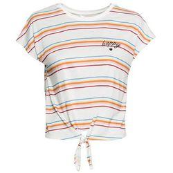 """Shirt """"boxy"""" + top (2 części) bonprix biało-zielony kiwi tygrys"""
