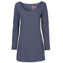 Shirt z długim rękawem bonprix niebieski indygo
