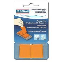 Zakładki indeksujące samoprzylepne z dyspenserem pomarańczowe - DONAU