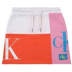 Calvin Klein Jeans Spódnica pomarańczowy / różowy / biały