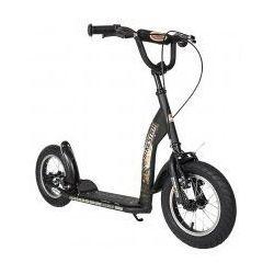 """Hulajnoga dla dzieci, pompowane koła 12"""" BikeStar kolor czarny"""