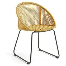 Krzesło ogrodowe LORETO musztardowe - żółty