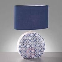 Lampy stołowe, Lampa stołowa Öland z biało-niebieskim kloszem