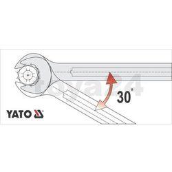 Klucz płasko-oczkowy z polerowaną główką 17 mm Yato YT-0346 - ZYSKAJ RABAT 30 ZŁ
