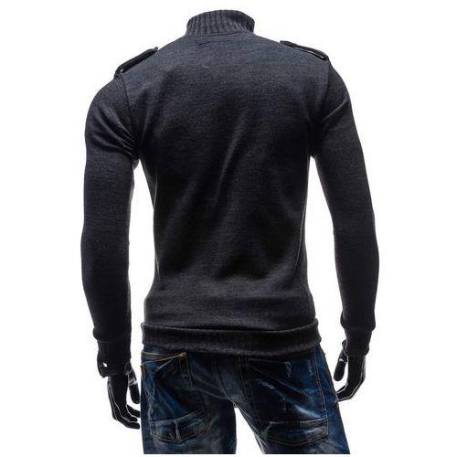 Swetry męskie, Antracytowy sweter męski Bolf 1132