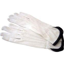 Rękawiczki bawełniane z czarnym paskiem, rozmiar 9 - 12 par