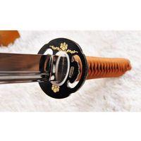 Broń treningowa, MIECZ JAPOŃSKI SAMURAJSKI NINJA DO TRENINGU, STAL WYSOKOWĘGLOWA 1095, MARU, R1023