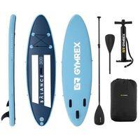 Pozostałe sporty wodne, Gymrex Deska SUP - dmuchana - Balance Line - 135 kg - niebieska GR-SPB300