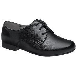 Półbuty buty komunijne Lakierki KORNECKI 4060 Czarne Kratka wizytowe - Czarny