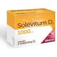 Witaminy i minerały, Solevitum D3 1000j.m. x 60 kapsułek + 15 gratis!