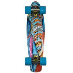 Deskorolka Fishskateboards Art Fish Elephant / Silver / Transparent Blue