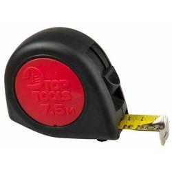 Miara zwijana stalowa 7.5 m x 25 mm 2 blokady zwijania taśmy dwumateriałowa obudowa 27C318