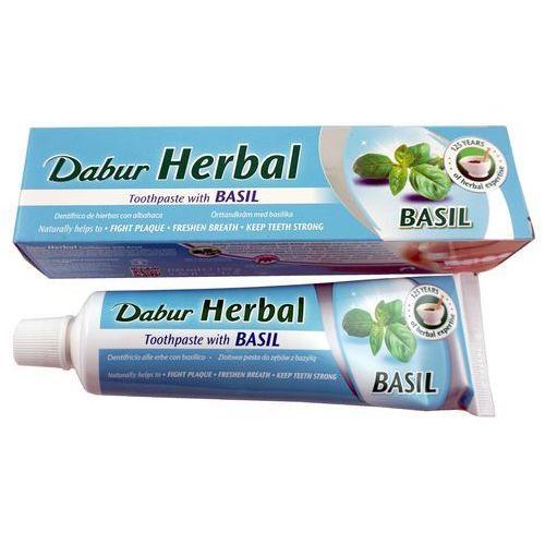 Pasty do zębów, Dabur Herbal Toothpaste Imperial Basil-Ziołowa pasta do zębów z bazylią bez fluoru , 100ml