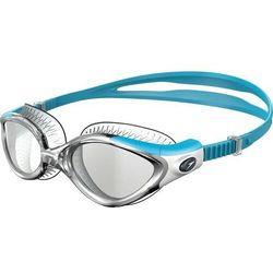 speedo Futura Biofuse Flexiseal Okulary pływackie Kobiety szary/turkusowy 2019 Okulary do pływania