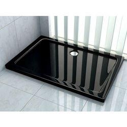 Brodzik prysznicowy akrylowy, kolor czarny 80x120 Rea
