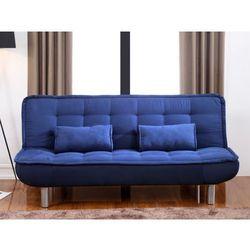 Kanapa rozkładana MISHAN z tkaniny - Kolor: niebieski