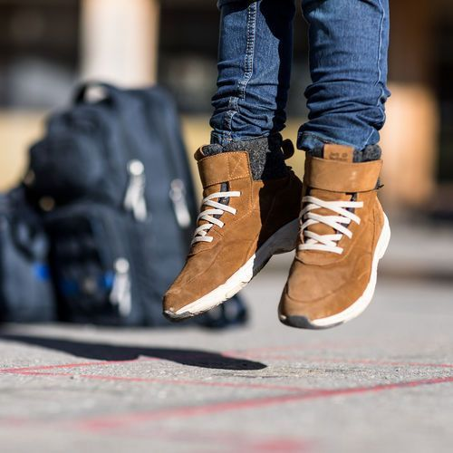 Buty sportowe dla dzieci, Buty sportowe dla dzieci CITY BUG TEXAPORE MID K desert brown / champagne - 29