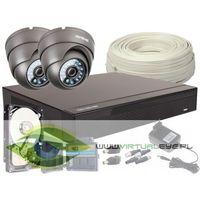 Zestawy monitoringowe, Zestaw 4w1, 2x Kamera FULL HD/IR20, Rejestrator 4ch, HDD 500GB