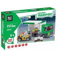 Klocki dla dzieci, Klocki Blocki Transport Ciężarówki 253 elementy