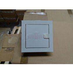 WYPRZEDAŻ Drzwiczki Rewizyjne metalowe 15x15 cm RAL 9002 Białe na zatrzask RD-1515
