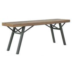 Drewniana ławka ogrodowa Ethan - brązowa