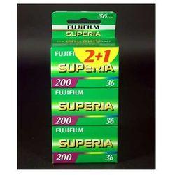 Fuji Superia 200/36 x 3 negatyw kolorowy typ 135