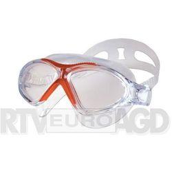 Spokey Vista - okularki - półmaska (biało-czerwone)