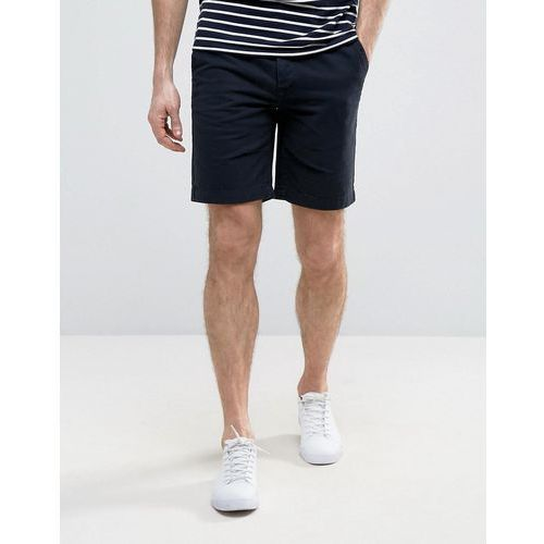 Pozostała odzież męska, River Island Chino Slim Fit Shorts With Belt In Navy - Navy