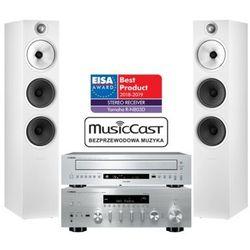 Yamaha R-N803D (srebrny) + CD-C600 (srebrny) + B&W 603 s2 (biały)
