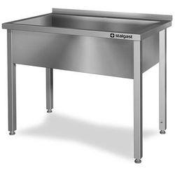 Stół z basenem jednokomorowym, spawany, 600x600x850 mm | STALGAST, 611466