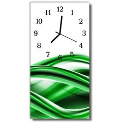 Zegar Szklany Pionowy Sztuka Abstrakcja fala zielony