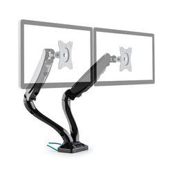 auna LDT09-C024USB Podwójny uchwyt stołowy do monitora LED LCD 2 x USB z zestawe
