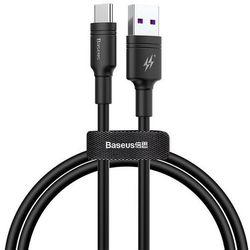 Baseus Double-ring | Kabel USB - Type-C Huawei SPC 5A Quick Charge 3.0 1m | czarny - Czarny \ 100cm