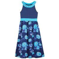 Sukienki dziecięce, Długa sukienka dziewczęca na uroczyste okazje bonprix kobaltowo-błękit laguny