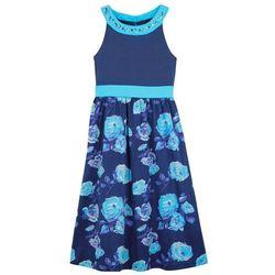 Długa sukienka dziewczęca na uroczyste okazje bonprix kobaltowo-błękit laguny