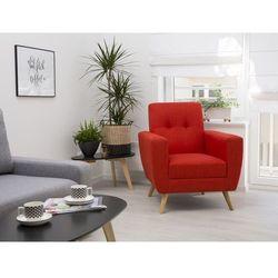 Fotel wypoczynkowy czerwony do salonu tapicerowany - HERNING
