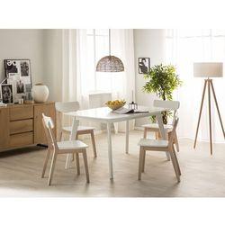 Stół do jadalni rozkładany 150/195 x 90 cm biały SANFORD