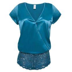 Body Premium z satynowym połyskiem bonprix niebieskozielony
