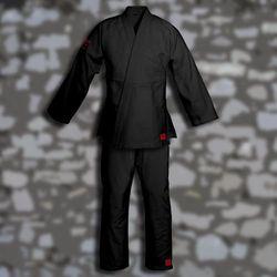kimono do ju-jitsu TONBO - PEARL, czarne, 580g/m2 (9 rozmiarów)