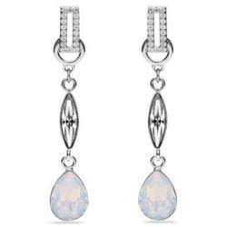 Kolczyki srebrne Swarovski Ice White opal - Elegancka biżuteria na Ślub